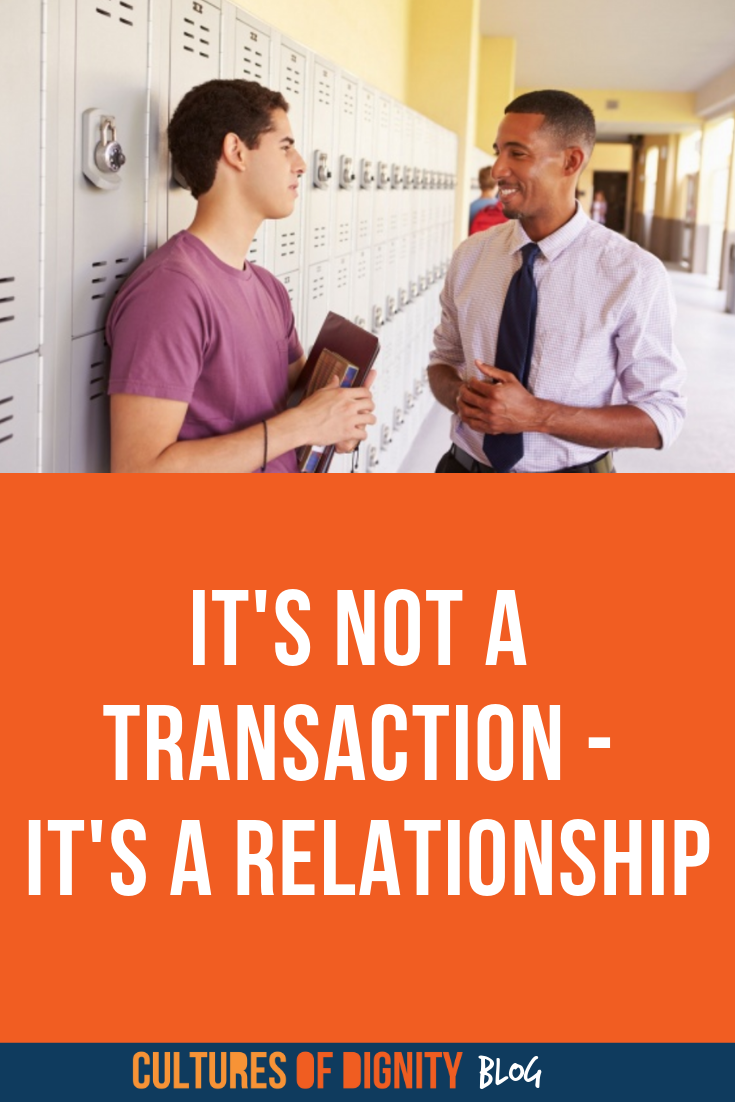 It's Not a Transaction— It's a Relationship