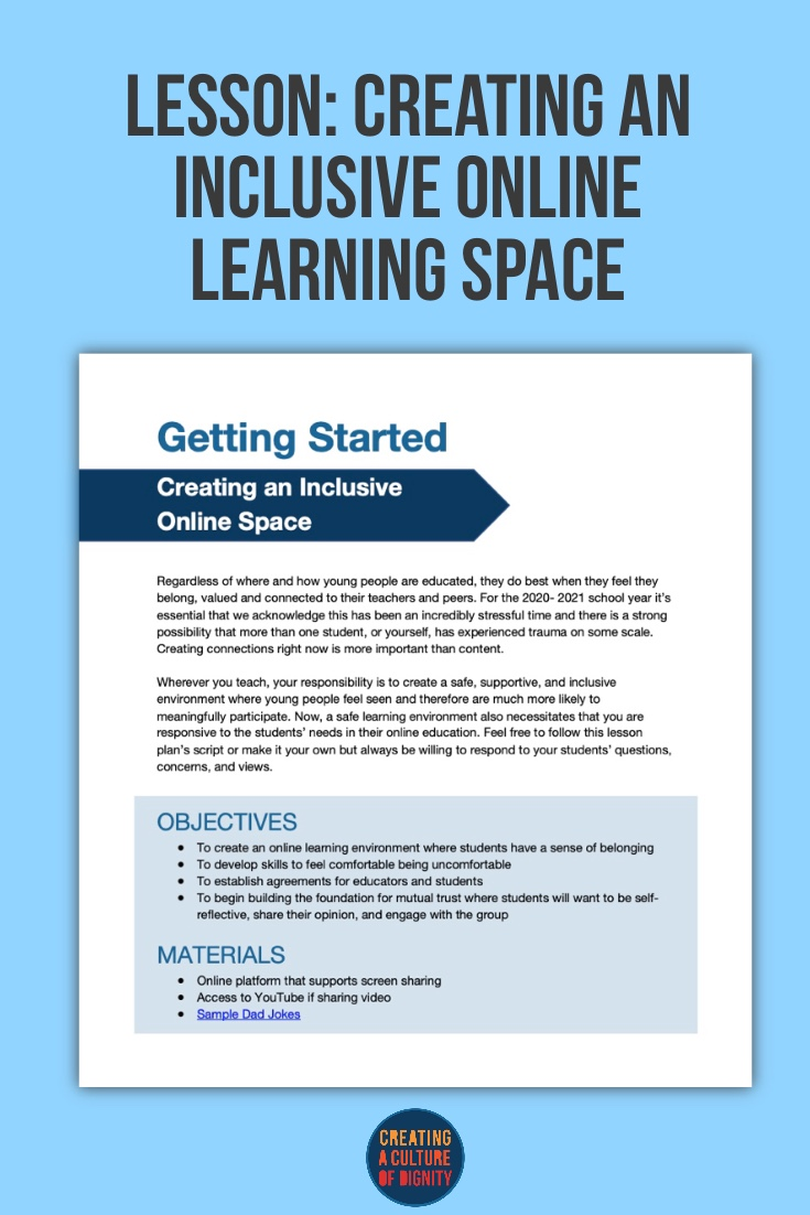 Lesson: Creating an Inclusive Online Learning Space