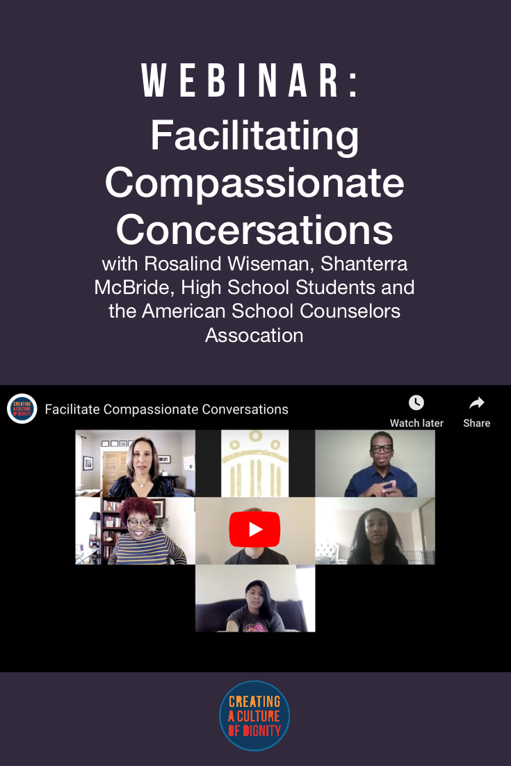 ASCA WEBINAR: Facilitating Compassionate Conversations with Rosalind Wiseman, Shanterra McBride, and High School Editors